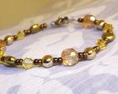Golden Bronze Colorful Reflections Victorian / Boho Bracelet