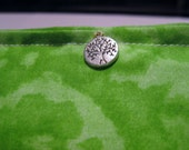 DEMETER Blend Reiki Rest and Relaxation Small Square Herbal Dream Pillow With Tree Beads of Life  Charm in BATIK GREEN