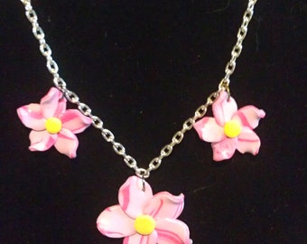 Hawaiian Flower Charm Necklace