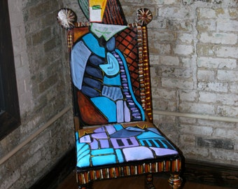 "Picasso chair ""Woman in Blue"""