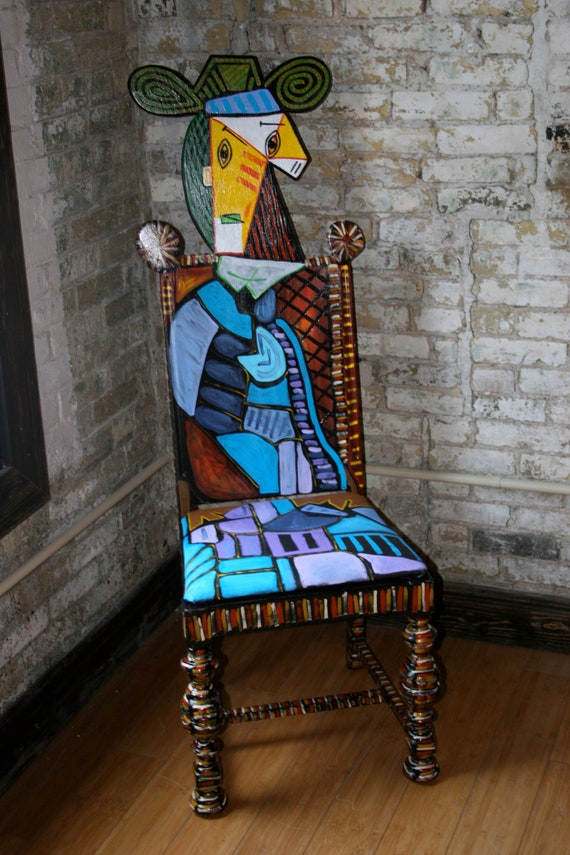"""Picasso chair """"Woman in Blue"""""""