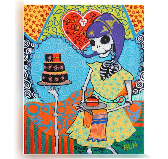 day of the dead kitchen wall la catrina poster mexican