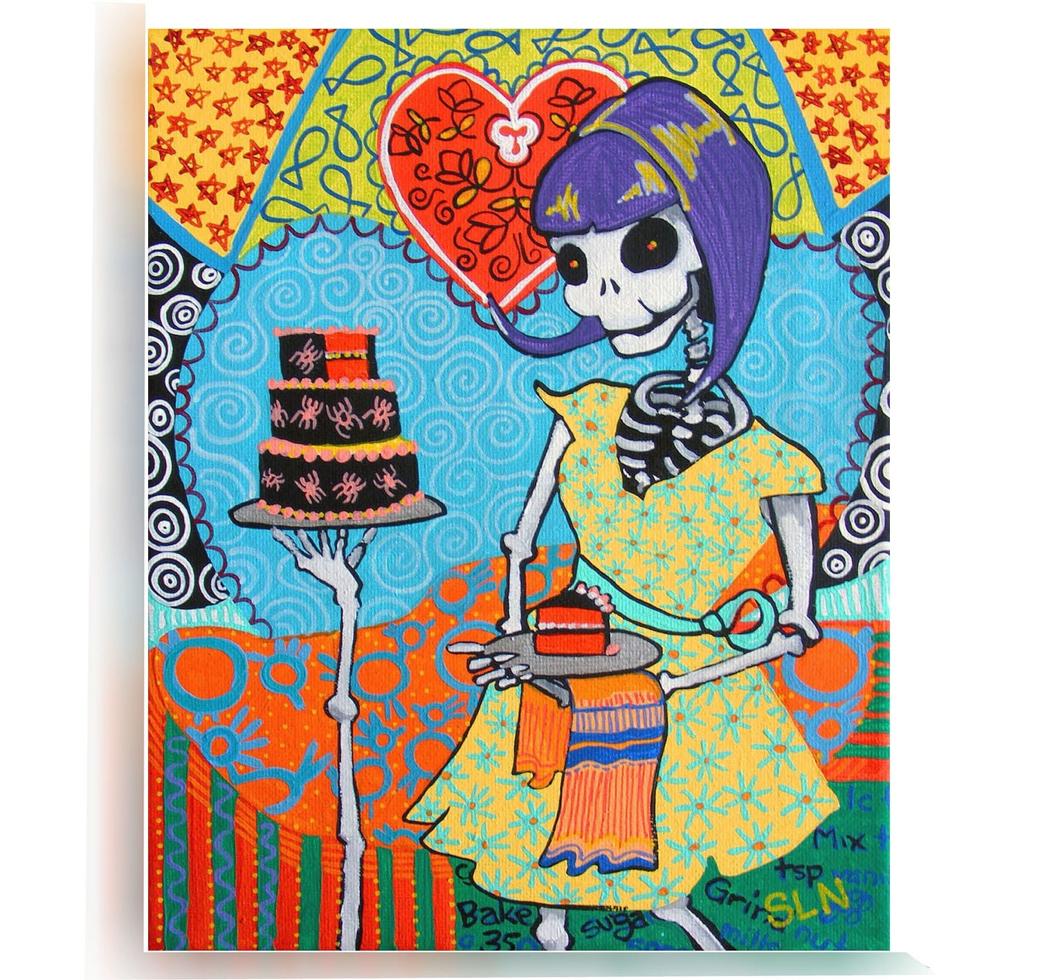 Day Of The Dead Wall Art day of the dead kitchen wall art. la catrina poster. mexican