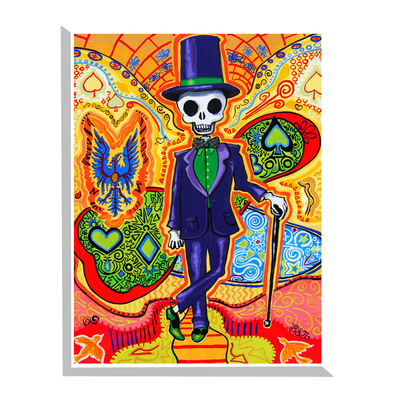 Trippy Art Gothic Home decor Masonic Skeleton poster Day of