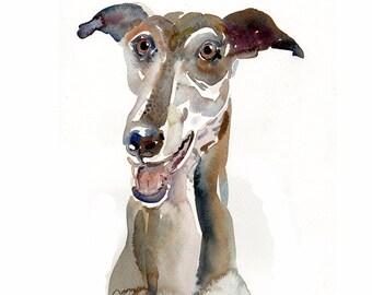 Pet  Portrait - Custom Pet Portrait -   13x19inchs - Animal art - Original Watercolor  Painting Dogs, Cats, Animals  - Large Illustration