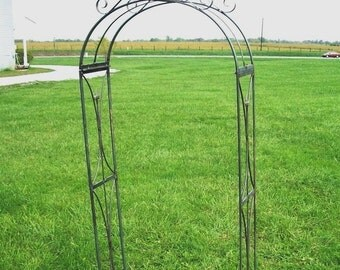 Handmade Lawless Arbor - Solid Metal Garden Arch with Decorative Top