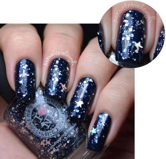 White Nail Polish In Winter: 40% OFF Once Upon A Starry Night Blue Silver White
