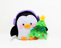 PDF Pattern - Felt Penguin Christmas Ornament