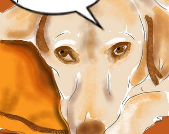 Custom Dog Portrait, custom portrait, pet portrait, dog art, dog lover, dog memorial, pet memorial, artwork, art print, wall art, painting