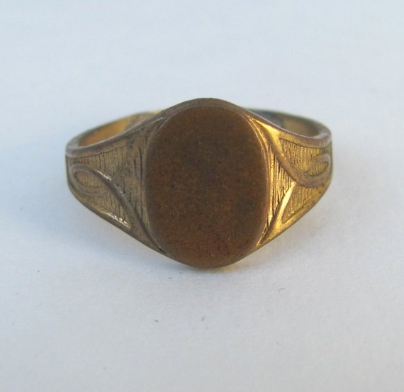 sale antique signet ring size 8 mens by