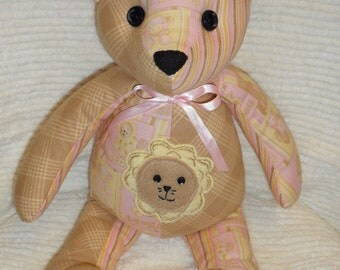 Baby Pink Lion Teddy Bear