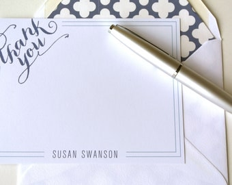 Personalized and Printable A2 Social Stationery - Personalized Thank You Card