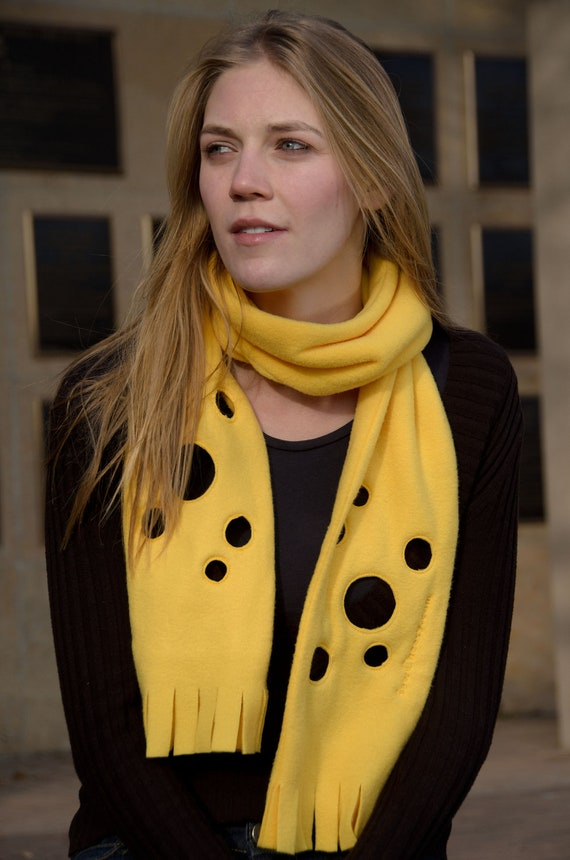 Express Shipping - Cheese Scarf - Doubled Layered Cheesy Coziness