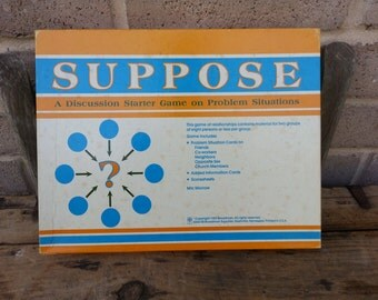 SUPPOSE board game, 1983, Vintage, A Game for Discussion on Relationships