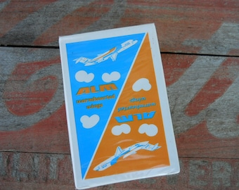 ALM Airlines Playing Cards. Rare Find Vintage ALM Warmhearted Wings SEALED Cards.