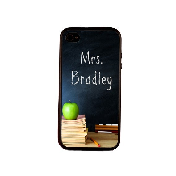 "Personalized iPhone 5 case. Custom iPhone 5 case. Available for iPhone 4 or 4S. Monogrammed iPhone 5 case. ""The Teacher"""