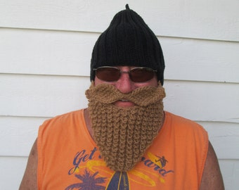 Knitted long beard hat Beard Beanie Wild Man Bearded Hat CROCHET Beard Hat viking hat men birthday gift Christmas gift  barbarian hat  Adult