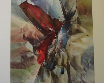 "Leonardo Nierman ""Flight Sensation"" Original Lithograph Artwork Signed & Numbered"