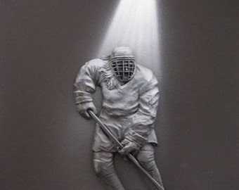 Spotlight Art - Lady Hockey Player