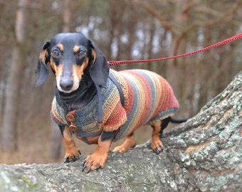 dachshund Dog Sweater Warm Hand Kni tting clothes medium dog For Pets ...
