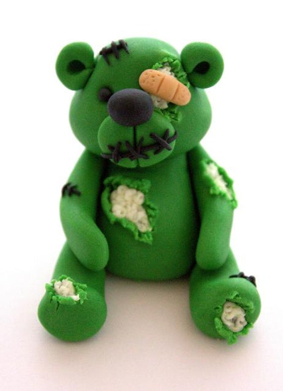 Zombie Teddy Bear Cake and Cupcake Decoration/Topper
