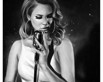 Lana Del Rey Print A4