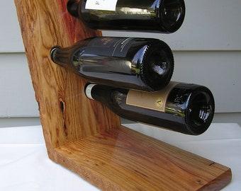 Wine Rack - Canary Wood Hardwood