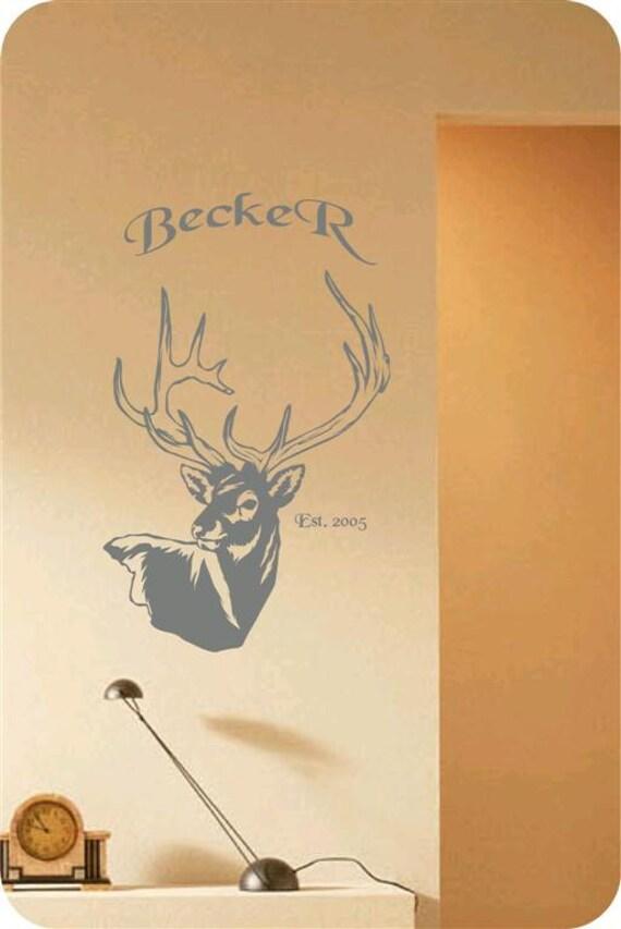 Items similar to Deer Man Cave Animal Rustic Cabin Lodge Mountains ...