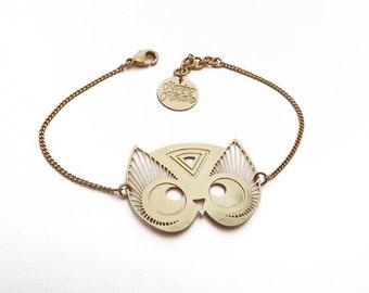 "Wristband ""TOTEM OWL"" gold"