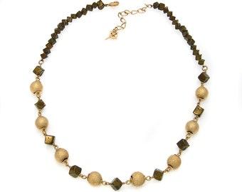 Necklace Pyrite and balls-Graniti