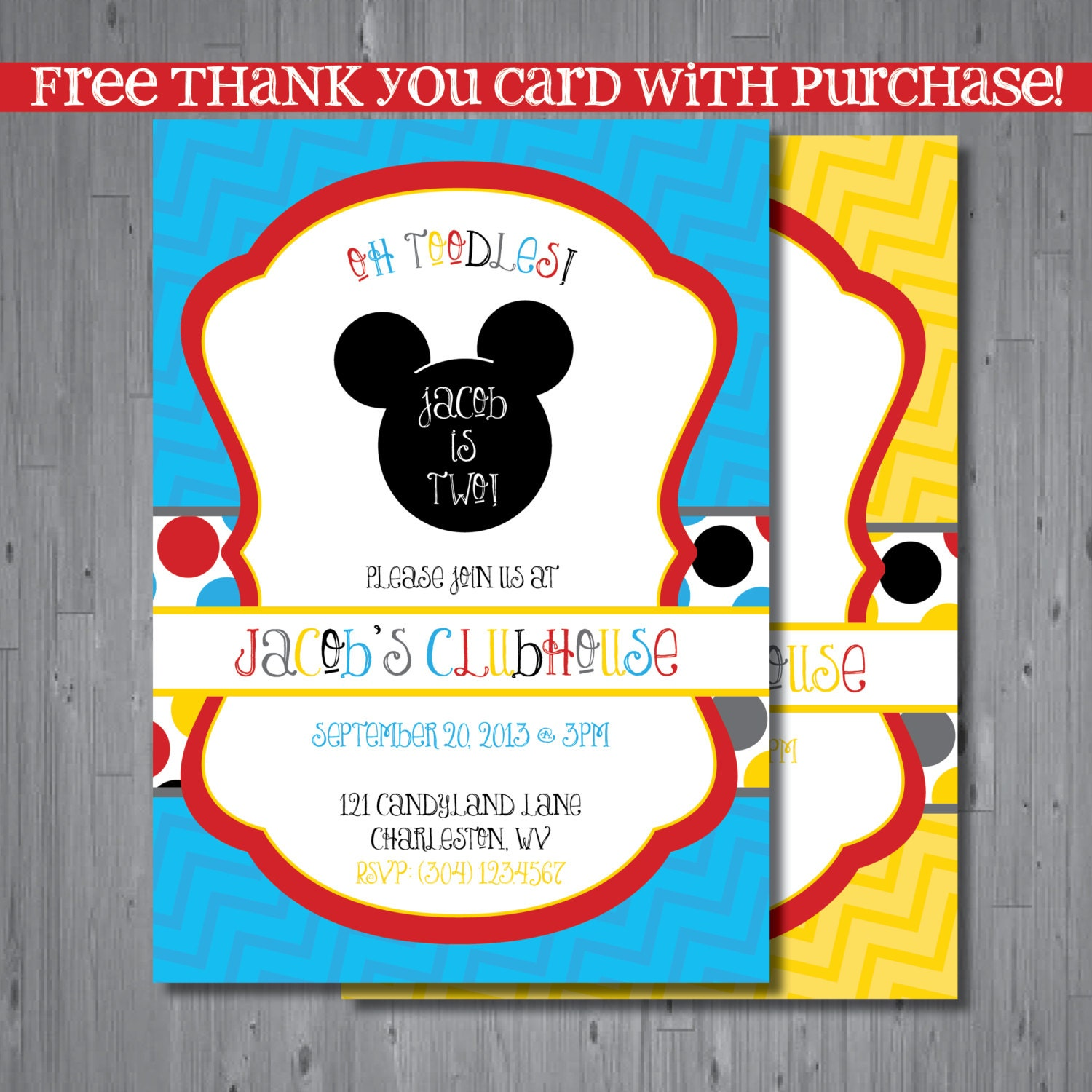 mickey mouse clubhouse custom birthday invitations - Ecza.solinf.co