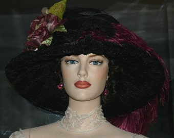 Kentucky Derby Hat Edwardian Tea Hat Downton Abbey Hat - Lady Alexia