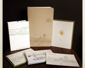 Boston letterpress card and journal bundle