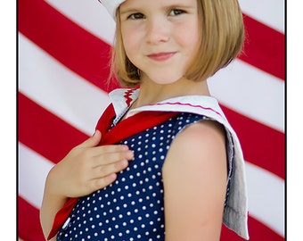 Sailor Hat Pattern - PDF sewing pattern - boys girls baby