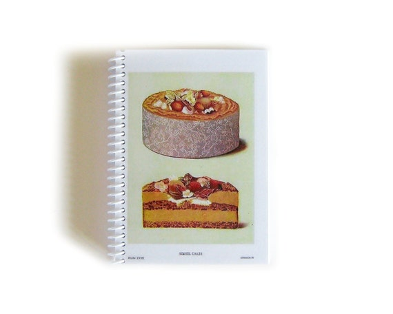 Simnel Cake Blank Recipe Book, Spiral Bound Journal, 4x6 Inches Notebook, Recipes Writing Blank Sketchbook Diary Cute Pocket, Gifts Under 15