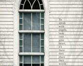 When Angels Speak - Arched Church Window Uplifting