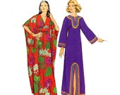 70s Boho caftan vintage sewing pattern Simplicity 5315 Size Small 8 to 10