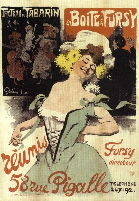 REUNIS French Poster Oversized Postcard