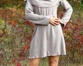 Hemp and Organic Cotton Oversized Cowl Tunic With Full Length Sleeve