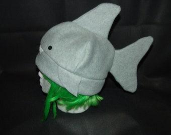 GREAT WHITE SHARK fleece hat