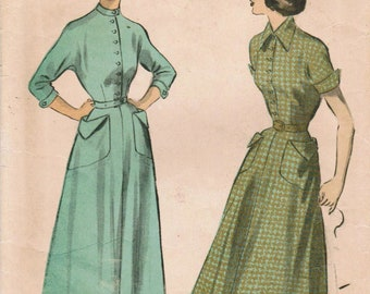 1940s Advance 5217 Vintage Sewing Pattern Teen's Dress Size 12 Bust 30