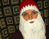 Order by Dec 10 Santa hat with white beard Crochet knit