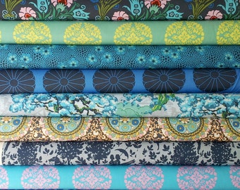 Cameo Amy Butler fabric bundle -  Enchanted palette - Fat quarter set of 12