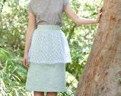 SALE - Peplum Skirt - Banana Split Skirt, Mint