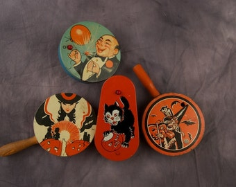 SALE WAS 140 Vintage Lot: Halloween Noise Makers
