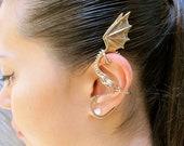 Dragon Ear Wrap Bronze - Dragon Ear Cuff - Elfin Dragon Ear Wrap - Dragon Jewelry - Game of Thrones Inspired Jewelry - Non-Pierced Earring