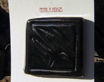 Handmade Ceramic Tile - Small Black Raven Tile