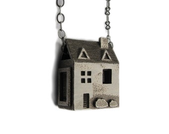 Doll House Necklace - House Warming Gift  - inspired by dollhouses and miniatures- handmade in Austin, Tx