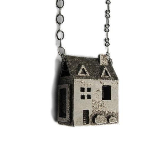 us jewelry house doll house necklace sterling silver jewelry pre colonial 6562