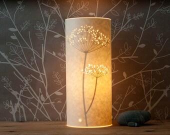 Flower Paper Table Bedside Lamp / Small / Cow Parsley / Hannah Nunn